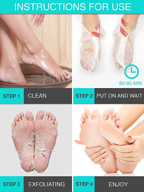 exfoliating foot peels by barbies beauty bits
