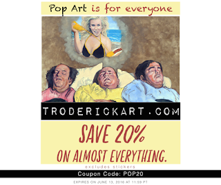 20% off coupon code POP20 troderickart.com