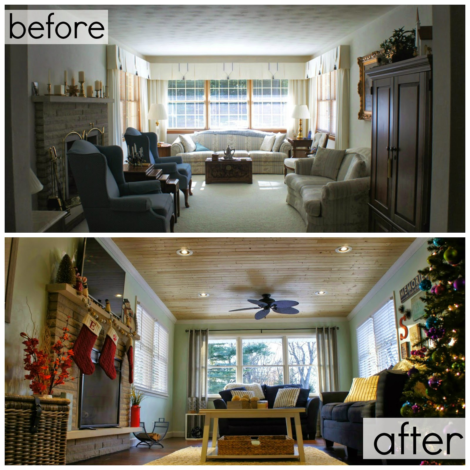 Before And After Living Room Living In Yellow