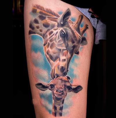 Tatuaje de jirafas