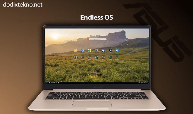 Sistem Operasi Endless OS Asus VivoBook S15 S510UQ