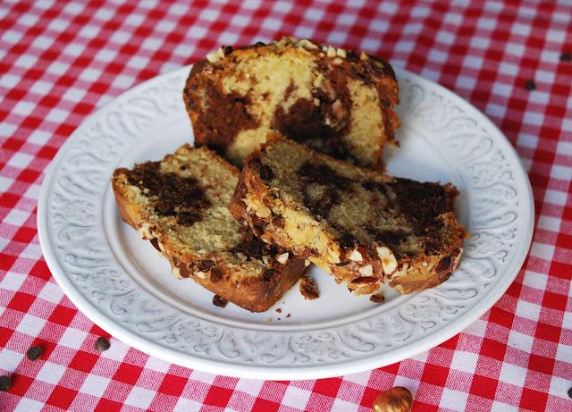 Gâteau marbré noisette (moelleux et croustillant)