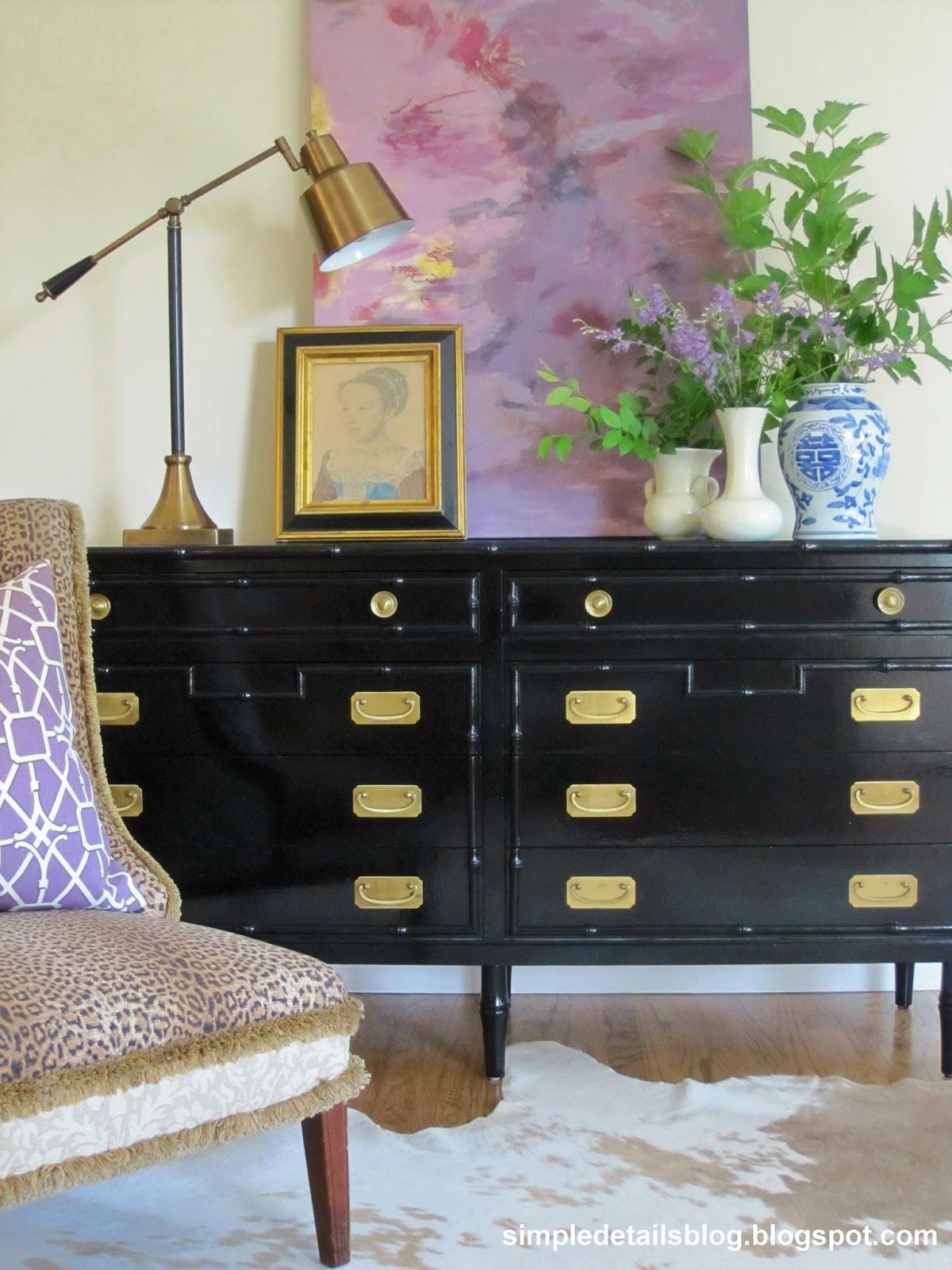 Simple Details Diy Painted Bamboo Dresser