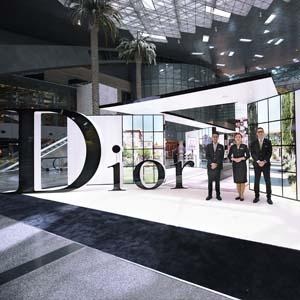 Source: QDF. QDF unveils the Maison de Parfum  pavilion at HIA's  main passenger terminal.
