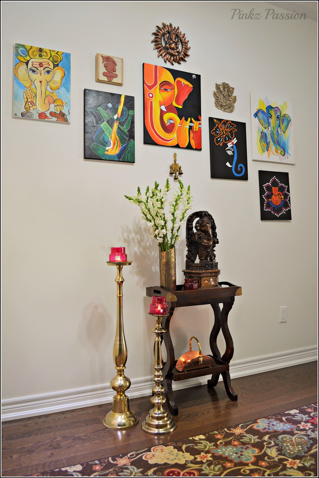 Mandir Designs In Living Room Pinkz Passion A Zone Of Serenity Pooja Room