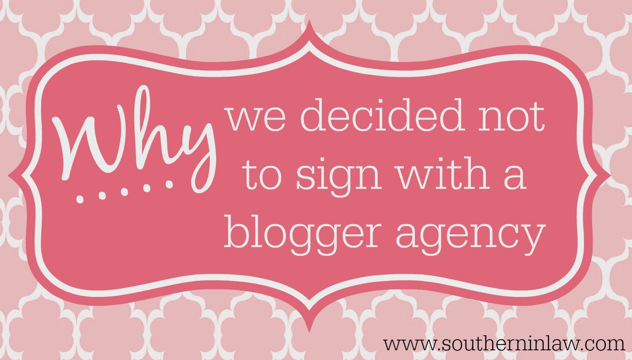 Why we said no to signing with a blogger agency - Should I sign with a blogger agency?