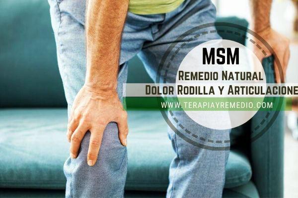 MSM para el Dolor de rodilla, articulaciones, para el pelo y las uñas.