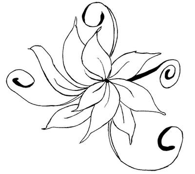 Flores Lindas Desenhos Preto E Branco Para Colorir