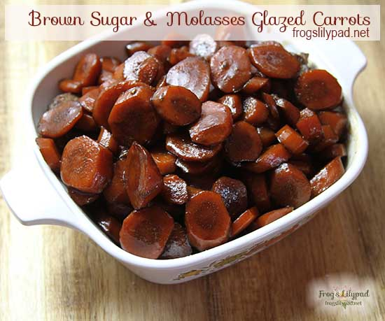 DON'T MISS THIS RECIPE - Brown Sugar and Molasses Glazed Carrots are quick and easy. They're liable to become hit and even a family favorite. frogslilypad.net