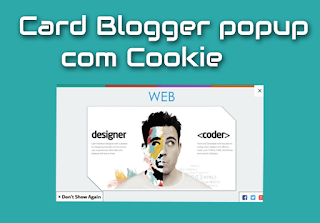 pop up card com cookie para blogger