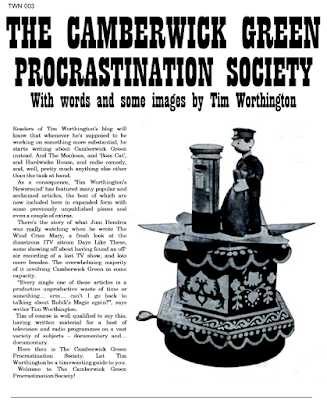 Back cover of The Camberwick Green Procrastination Society by Tim Worthington