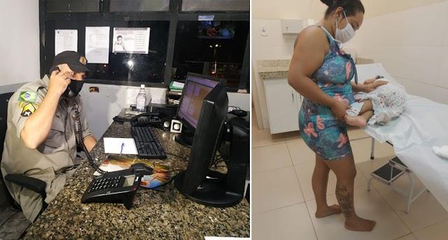 Jataí: Por telefone sargento da PM orienta mãe e salva bebê engasgada