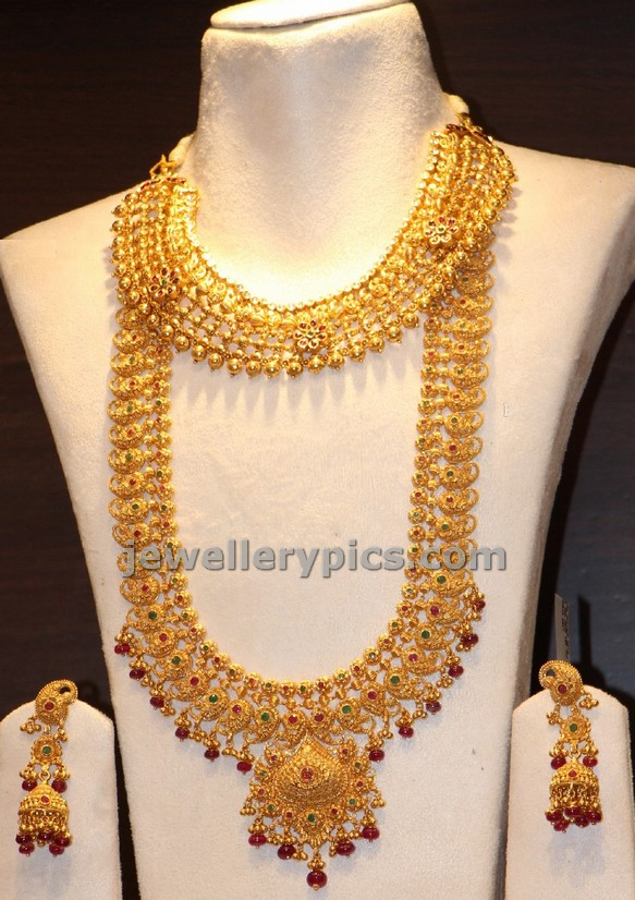 Gold Mango Haram Design In Cmr Jewellery Shopping Mall Latest