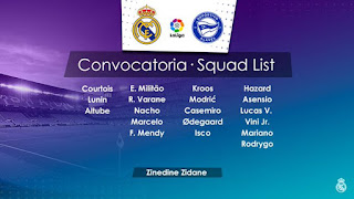 Lista de convocados para enfrentar al Alavés