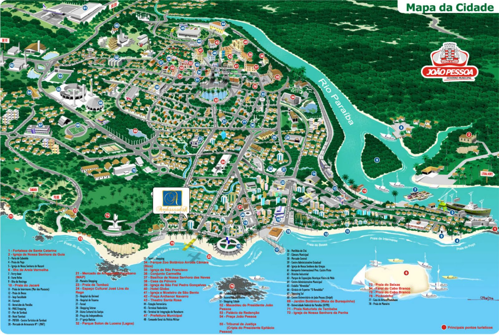 joao pessoa mapa Mapas de João Pessoa   PB   MapasBlog joao pessoa mapa