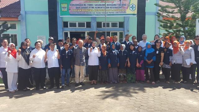 Penggiat Kusta Internasional Yohei Sasakawa Bersama Tim WHO Kunjungi Padang Pariaman