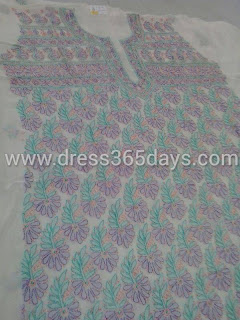 Designer kurti Dress Material in Chikankari Mukesh work
