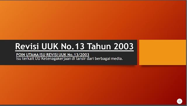 Revisi UU no 13/2003