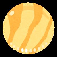 おはじきのイラスト(黄色)