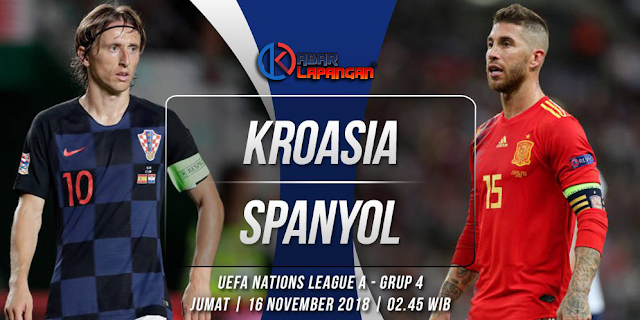 Prediksi Bola Kroasia vs Spanyol UEFA Nations League
