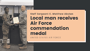 Local man receives Air Force commendation medal