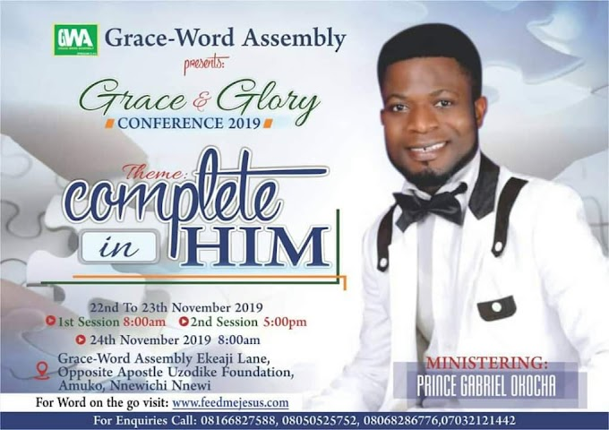 Get Set For Grace & Glory Conference 2019