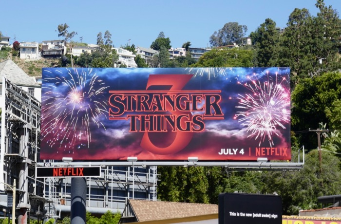 Stranger Things 3 fireworks billboard