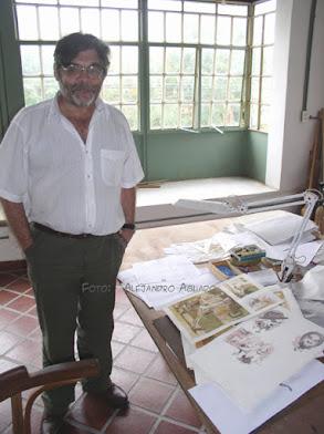 Foto tomada en su estudio