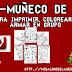 FABULOSO MEGA MUÑECO DE NIEVE LISTO IMPRIMIR, ARMAR Y COLOREAR EN GRUPO.