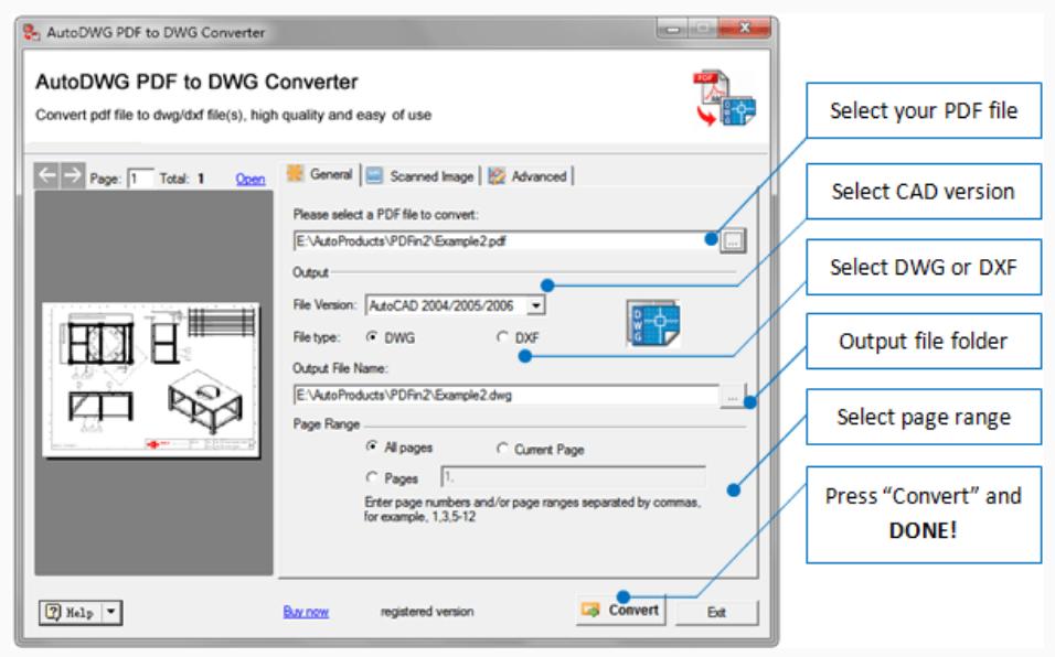 AutoDWG PDF to DWG Converter功能強大PDF轉DWG軟體下載