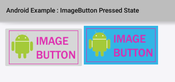 How to set ImageButton pressed state background in Android