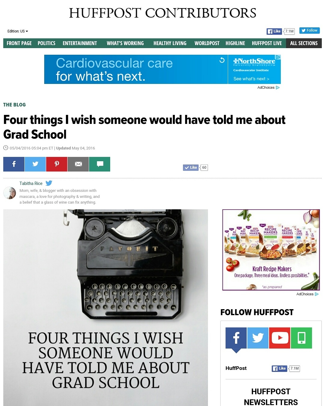 Writing For Huffington Post