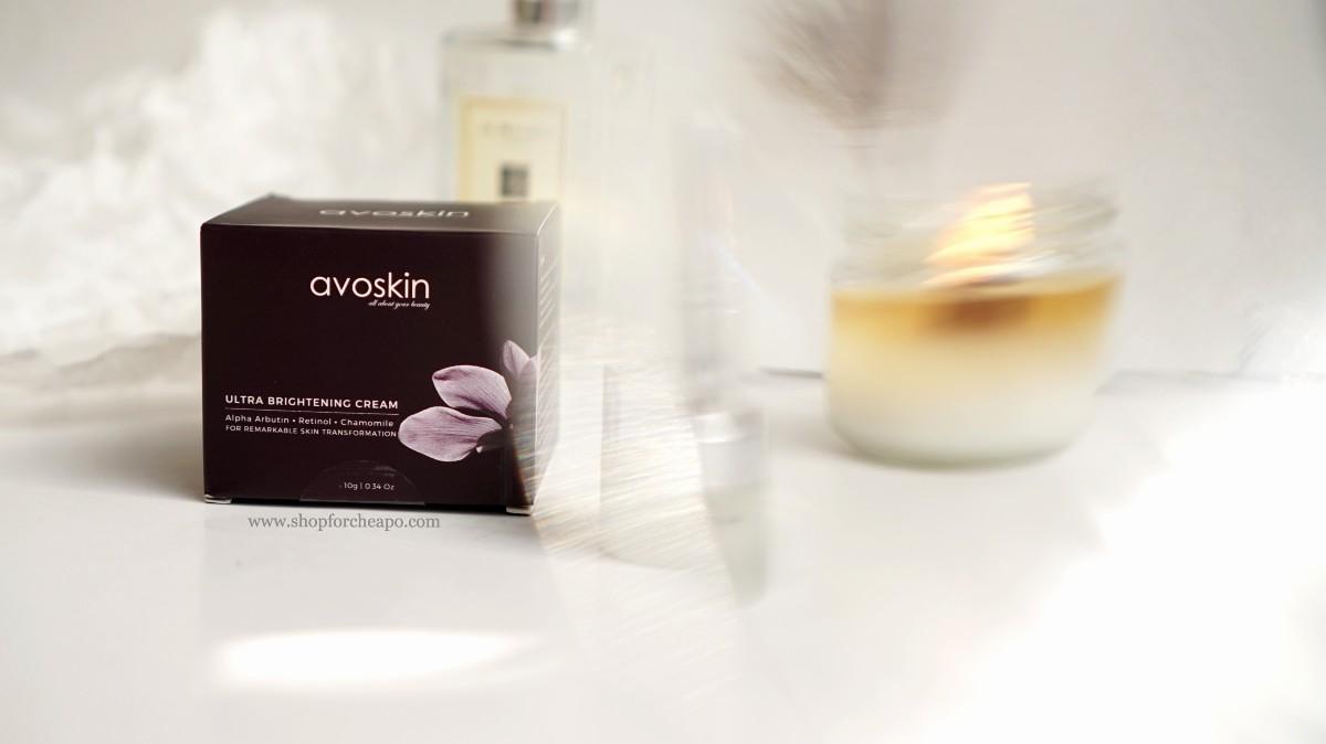 foto kemasan kardus avoskin ultra brightening cream