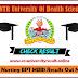 Dr NTRUHS ap nic in Results 2020 Bsc Nursing BPT MBBS