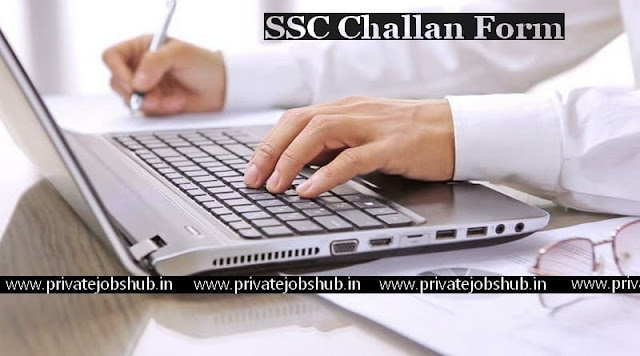 SSC Challan Form