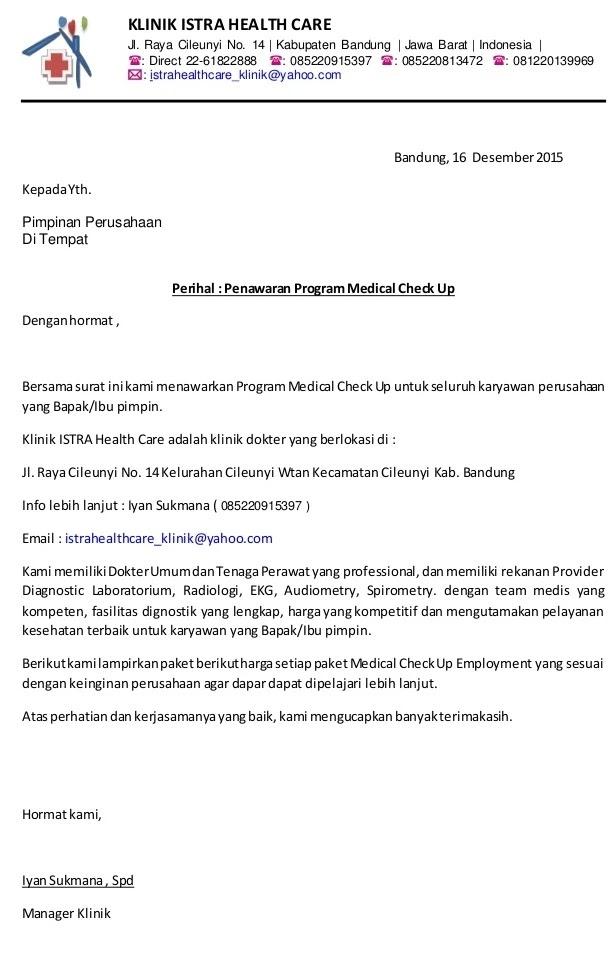 8. Contoh Surat Penawaran Kerjasama Laboratorium Klinik