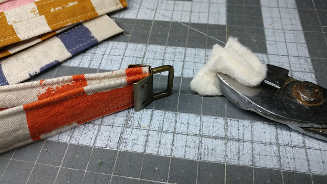 Using pliers to make key fobs