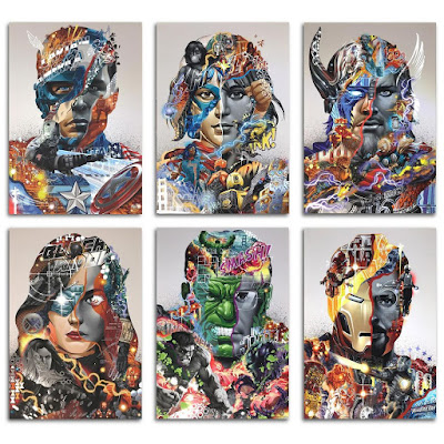 Marvel's The Avengers Video Game Silver Foil Edition Prints by Tristan Eaton