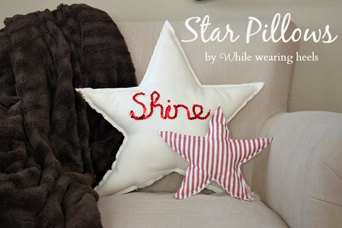 While Wearing Heels Star Pillow Tutorial