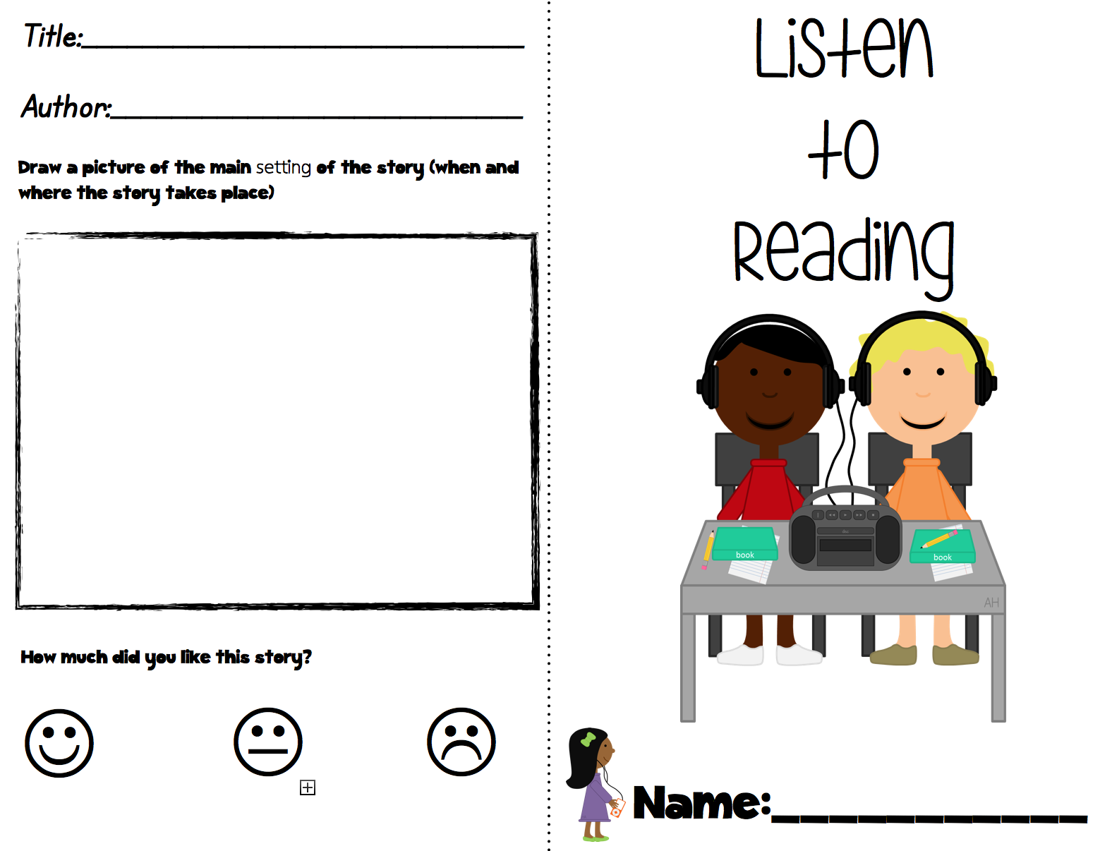Holiday Freebie And Flash Freebie Listening Center Response Booklet