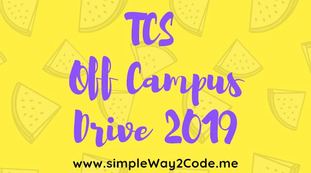 TCS-Off Campus Drive 2019