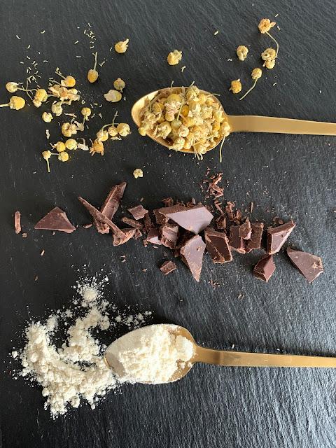 Kamillen-Schoko-Muffins, Rezept, glutenfrei, vegan, schnell, einfach, die besten muffin rezepte