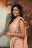 Eesha Rebba in beautiful peach saree at Darshakudu pre release ~  Exclusive Celebrities Galleries 031.JPG