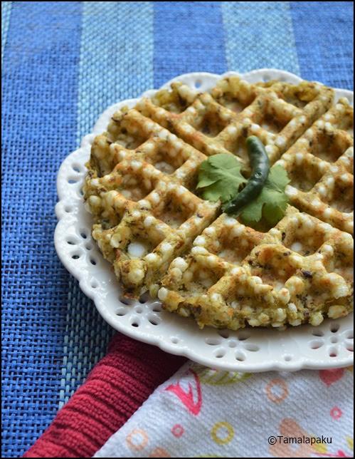 Sabudana Kala Chana Waffle