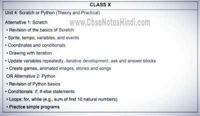 class 10 computer applications deleted syllabus