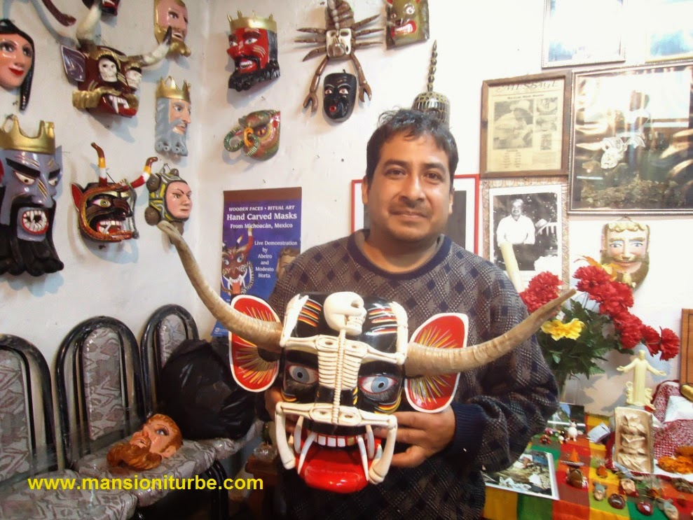 Mask Maker from Tocuaro Modesto Horta son of Don Juan Horta