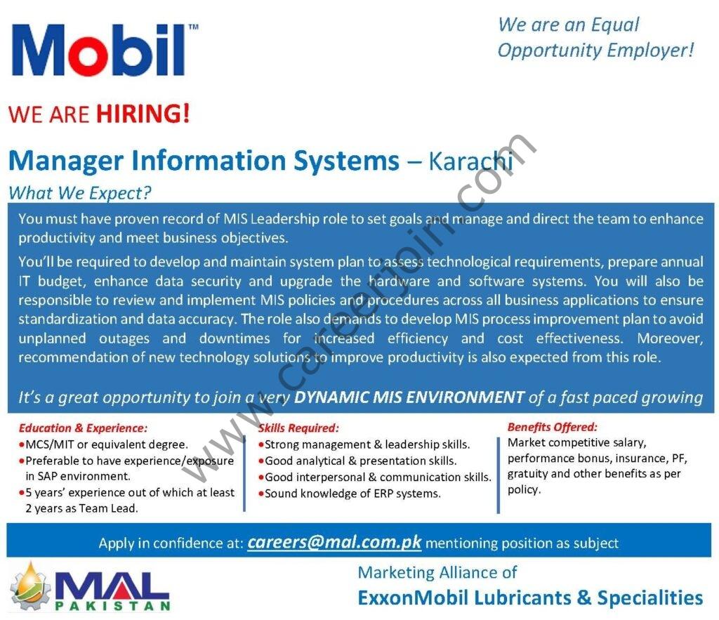 MAL Pakistan Ltd Jobs 2021 in Pakistan