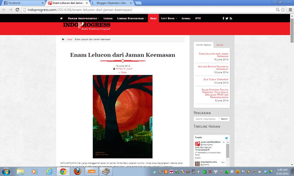 Lukisan Merah di Blog IndoProgress