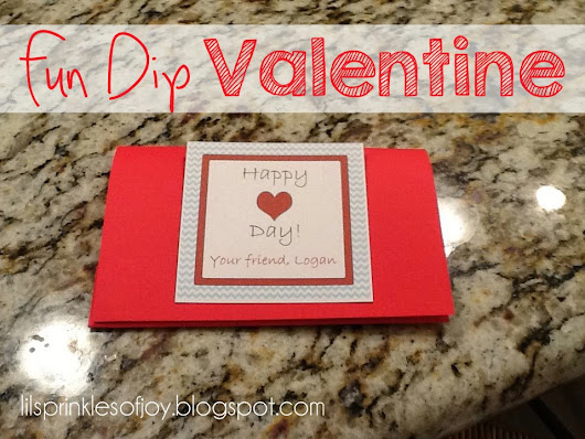 Fun Dip Valentine with Free Printable