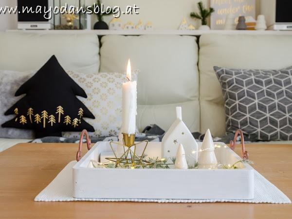 Meine Weihnachts-Hometour 2019 - Schöne Dekoideen im skandinavischen Stil und DIY Tannenbaumkissen mit Nähanleitung